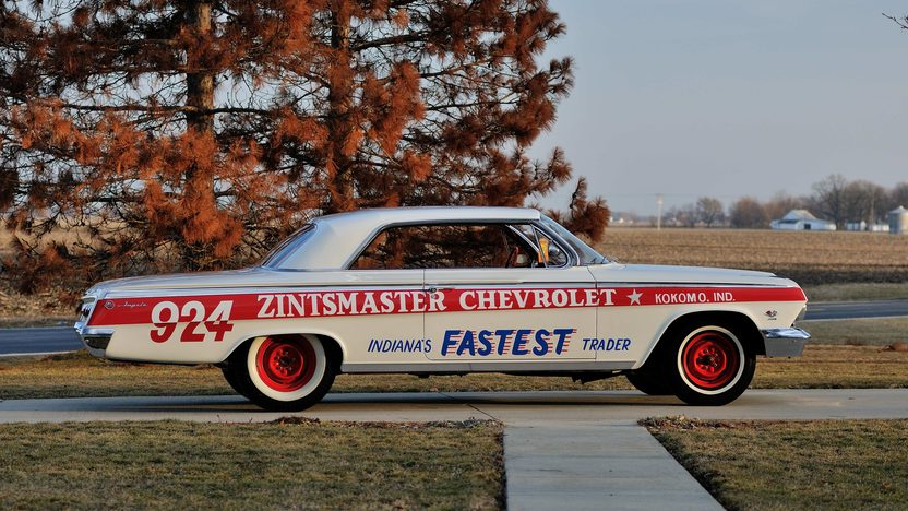 1962 Chevrolet Impala Lightweight Drag Car 409/409 HP, 4-Speed presented as lot S168 at Indianapolis, IN 2013 - image2