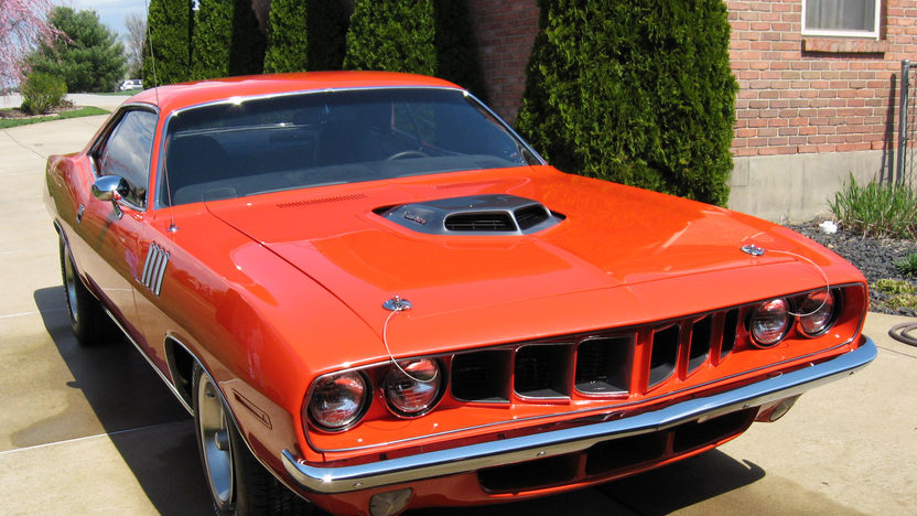 1971 Plymouth Cuda 440 CI, Automatic presented as lot F91 at Indianapolis, IN 2014 - image7