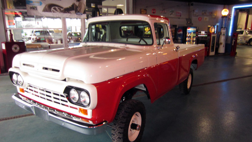 1960 ford f100 pickup 292 ci 4 speed mecum auctions for Garage ford metz borny